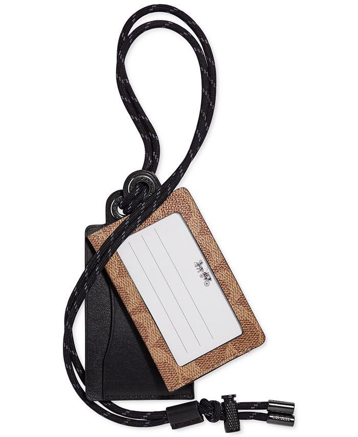 COACH - Men's Leather Card Case & Lanyard