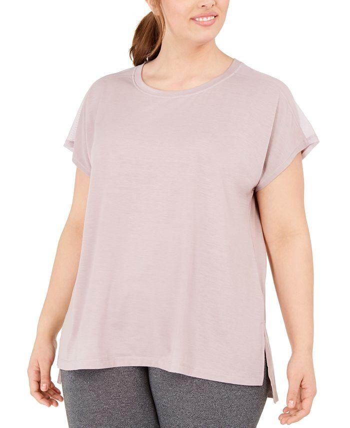 Ideology - Plus Size Mesh-Back T-Shirt