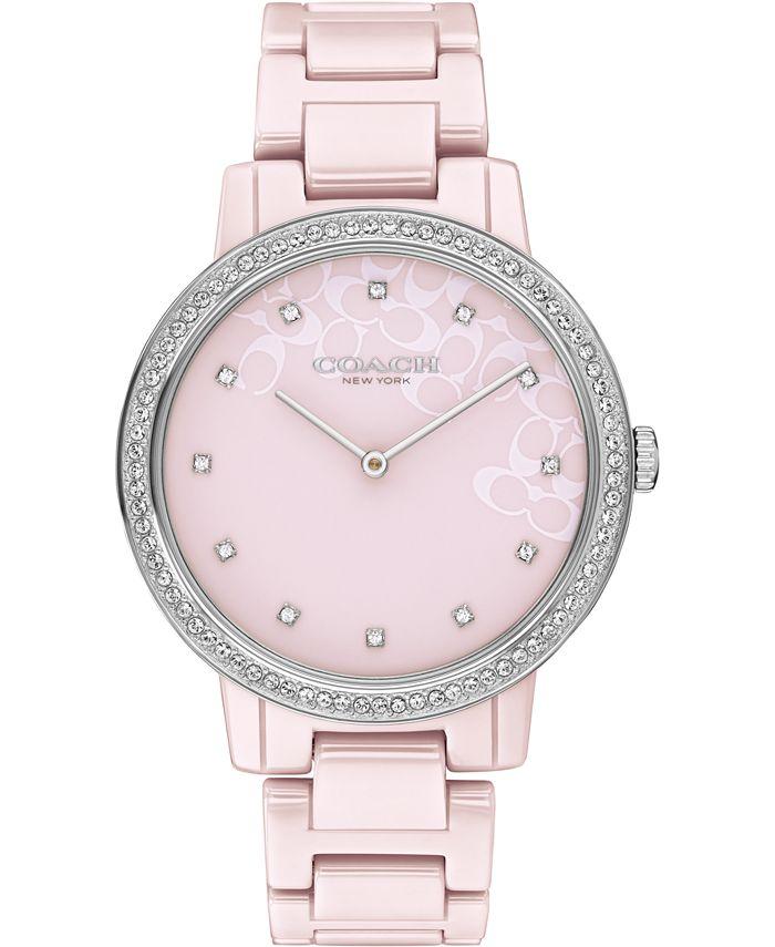 COACH - Audrey Blush Ceramic Bracelet Watch 35mm