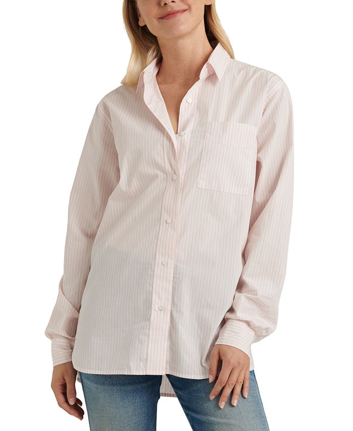 Lucky Brand - Cotton Relaxed One-Pocket Shirt