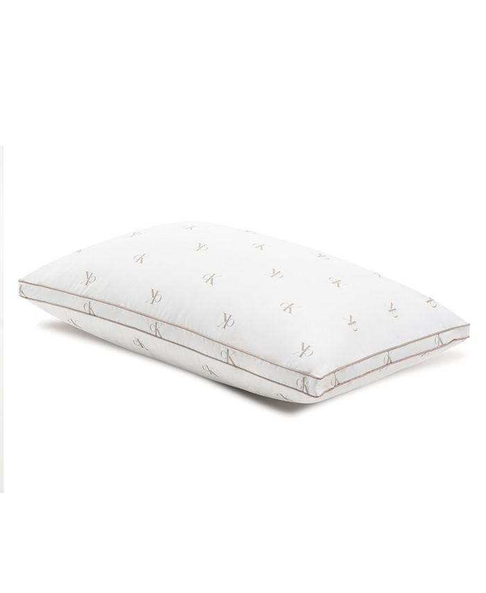 Calvin Klein - Monogram Logo Medium Support Cotton Pillow, King