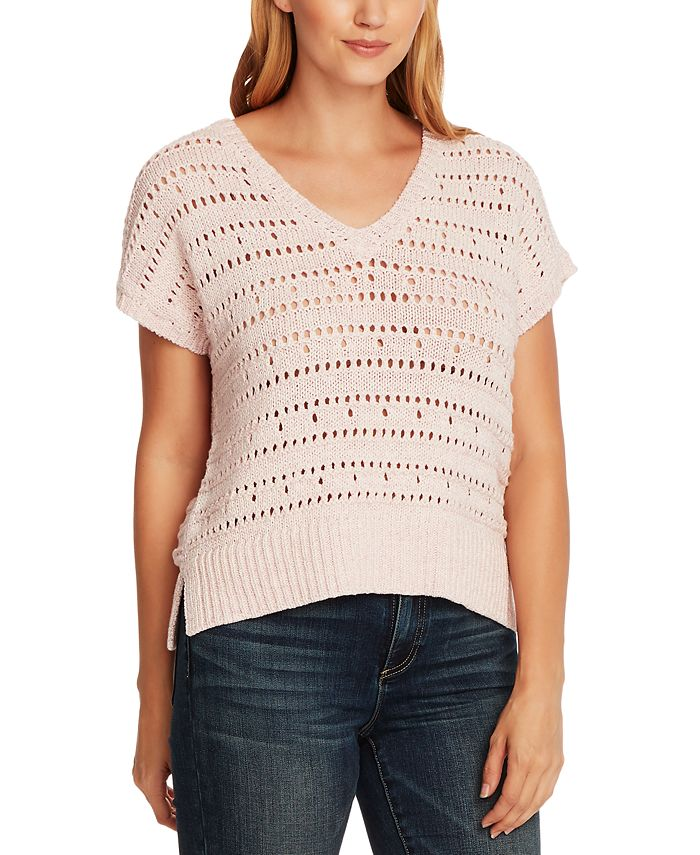 Vince Camuto - Open-Stitch Sweater