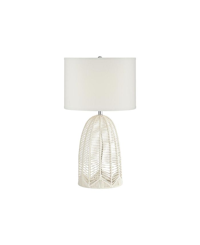 Pacific Coast - WHITE ROPE CAGE TABLE LAMP