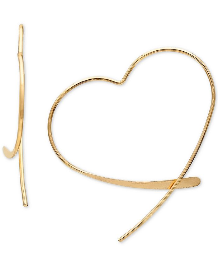 Giani Bernini - Wire Heart Threader Earrings in 18k Gold-Plated Sterling Silver