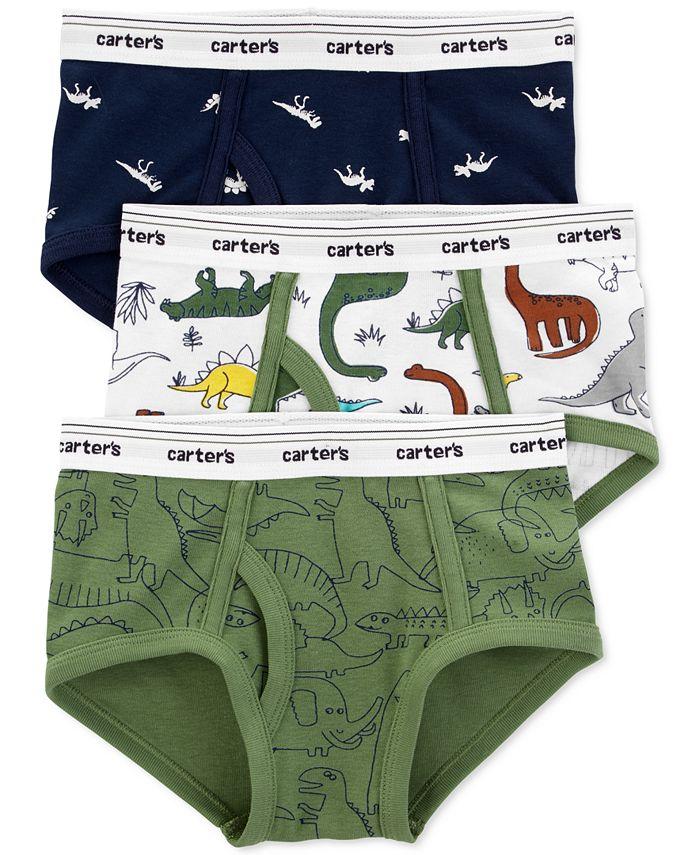 Carter's - Boys 3-Pk. Cotton Dinosaur Briefs