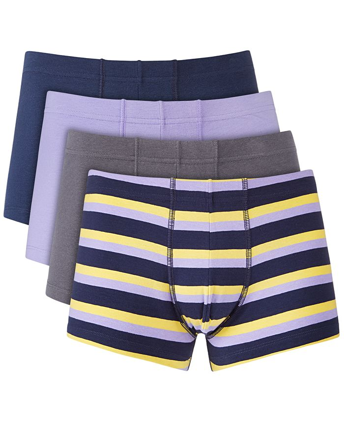 Alfani Men S 4 Pk Boxer Briefs Created For Macy S Reviews Underwear Socks Men Macy S