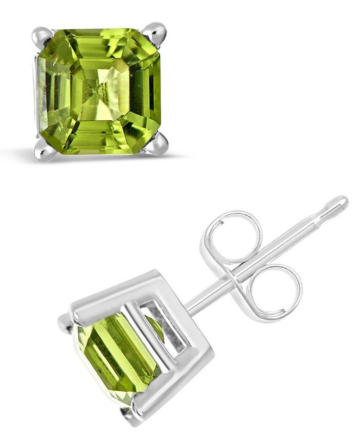 Macy's - Peridot (2-1/3 ct. t.w.) Stud Earrings in Sterling Silver