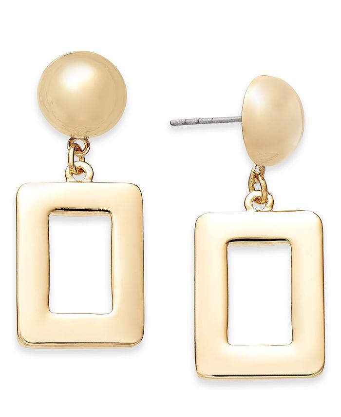 Alfani - Gold-Tone Square Drop Earrings
