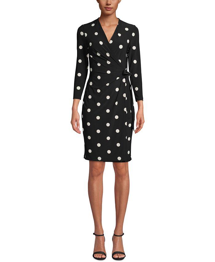 Anne Klein - Nomad Printed Faux-Wrap Dress
