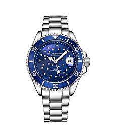 Stuhrling Women's Silver Tone Stainless Steel Bracelet Watch 39mm