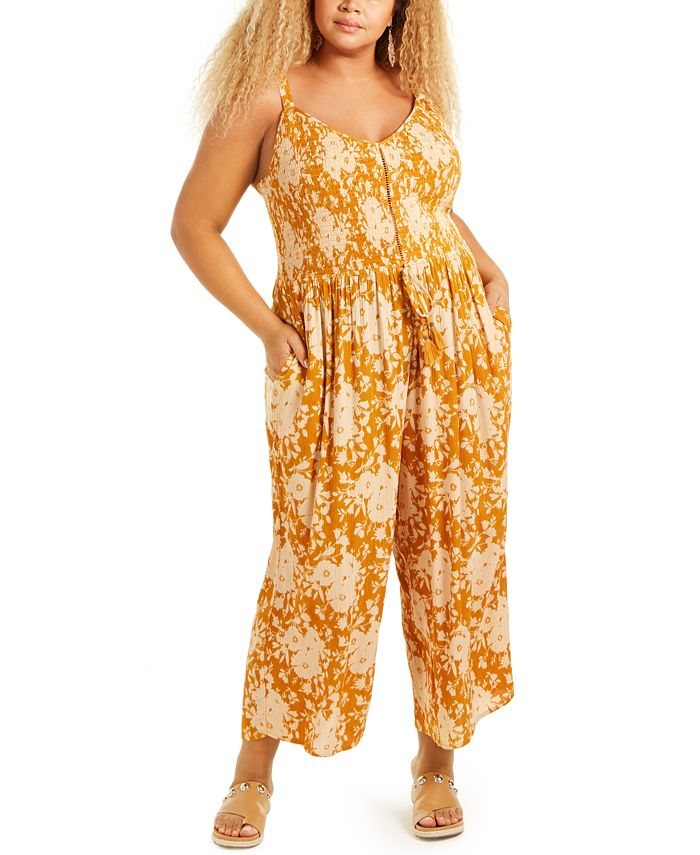Band of Gypsies - Trendy Plus Size Palazzo Jumpsuit