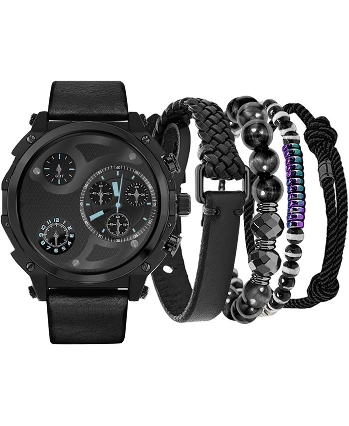 American Exchange - Men's Black Strap Watch 40mm