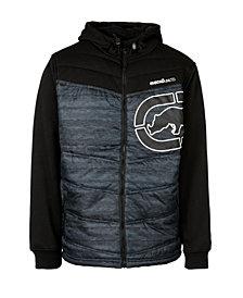 Ecko Unltd Men's Slanted Rhino Hybrid Jacket