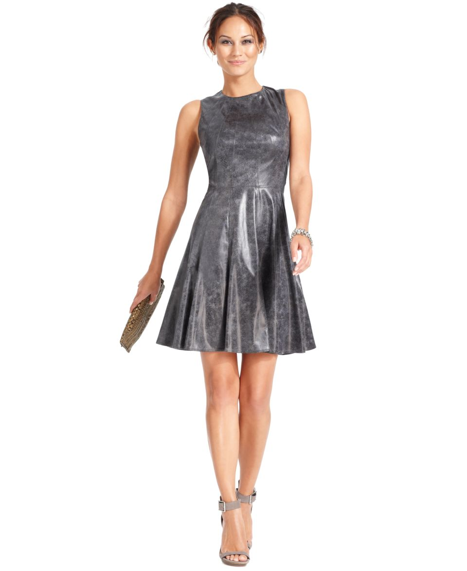 Vince Camuto Sleeveless Faux Leather Dress   Dresses   Women