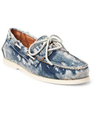Merton Washed Denim Boat Shoes