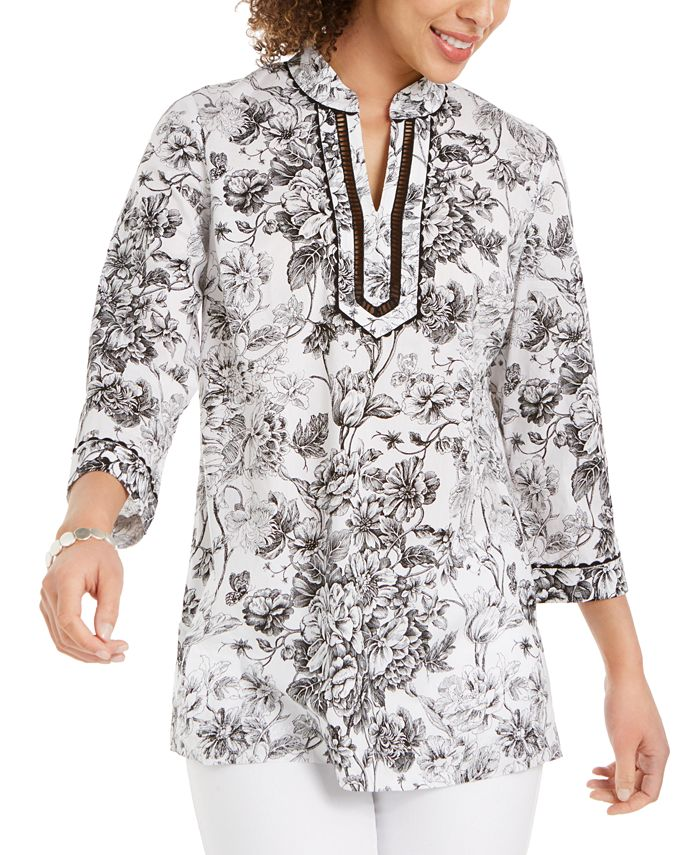 Charter Club - Split-Neck Tunic, Created For Macy's