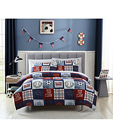 MHF Home Kids Sports Fan Twin Comforter Set