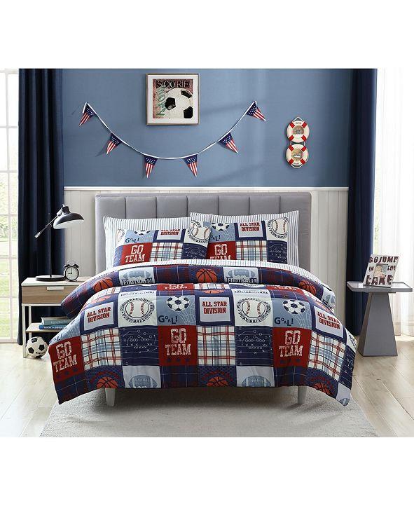 Morgan Home MHF Home Kids Sports Fan Twin Comforter Set