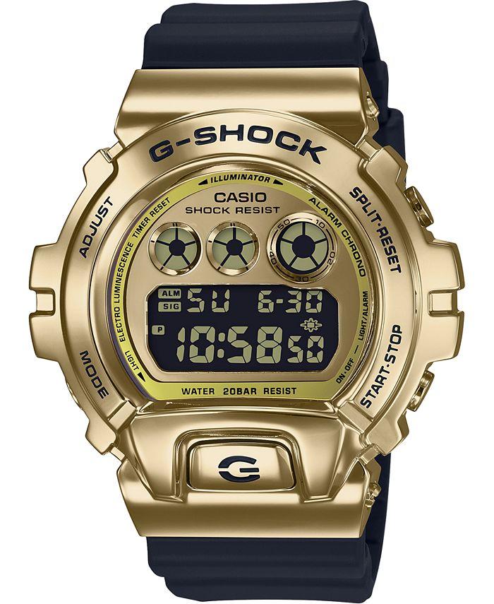G-Shock - Men's Digital Black Silicone Strap Watch 50mm
