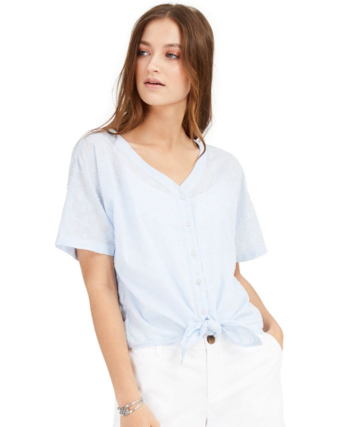 Style & Co - Cotton Tie-Front Shirt