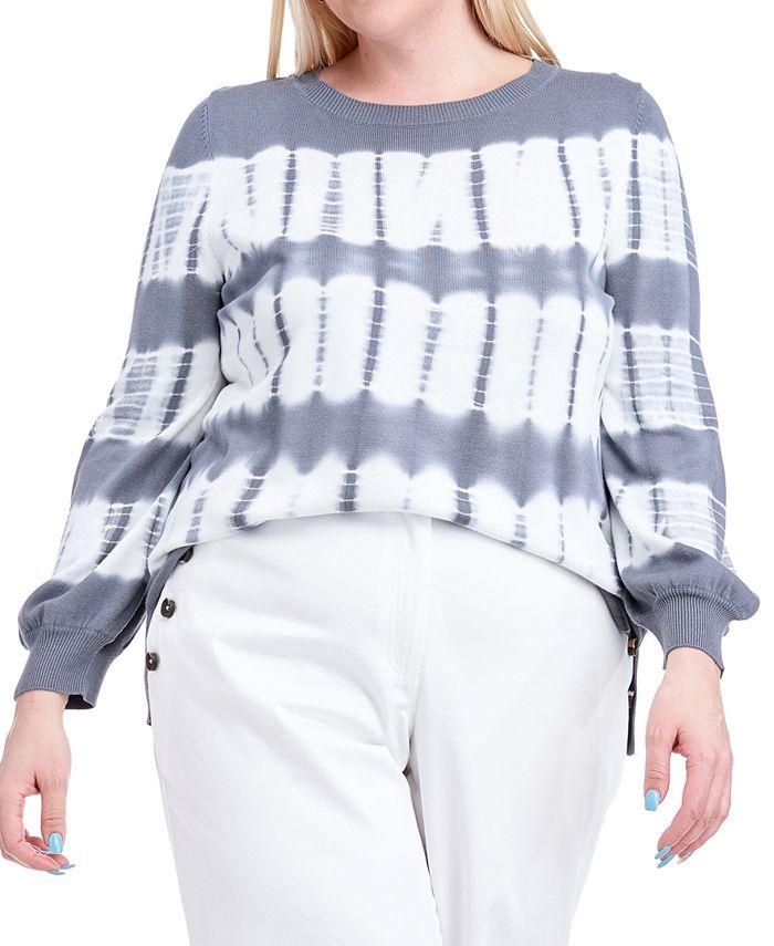 Fever - Plus Size Tie-Dye Sweater