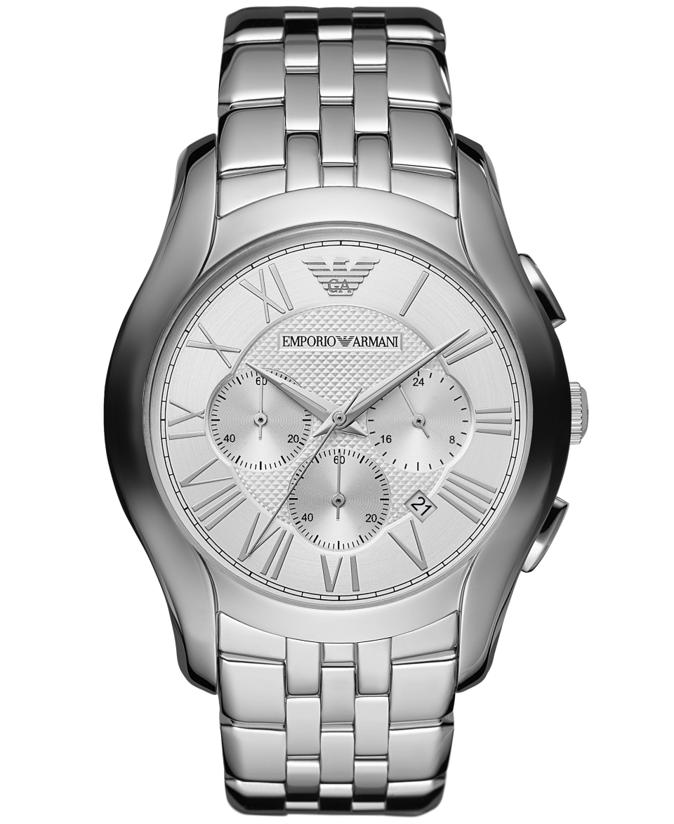 Emporio Armani Watch, Mens Chronograph Stainless Steel Bracelet 45mm AR1702   Watches   Jewelry & Watches