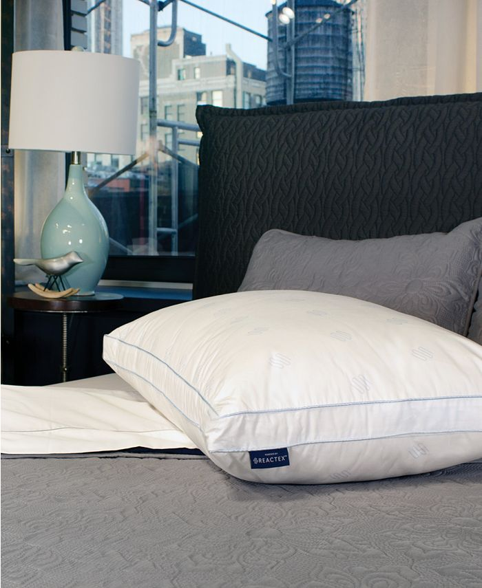 SensorGel - Arctic Nights 20x Cooler Supportive Gusseted Fiber Jumbo Bed Pillow Powered by REACTEX