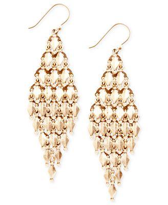 Lucky brand earrings gold tone chandelier earrings for Macy s lucky brand jewelry