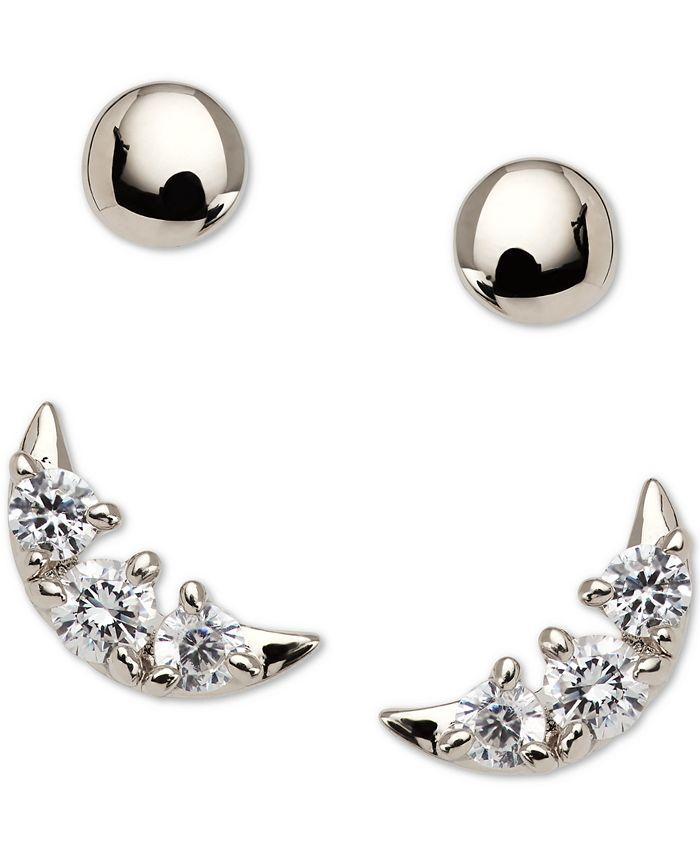 AVA NADRI - 2-Pc. Set Crystal Crescent Stud Earrings