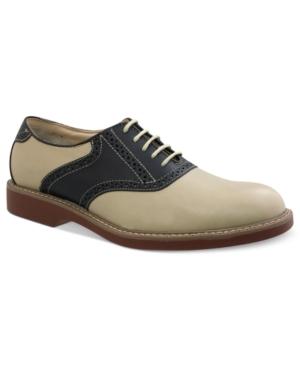 Bass Pomona Plain-Toe Saddle Lace-Up Shoes Mens Shoes $69.99 AT vintagedancer.com