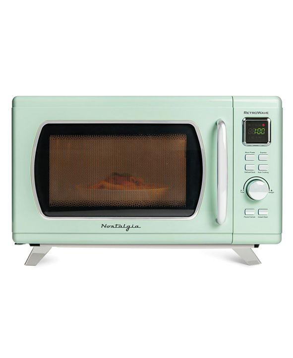 Nostalgia MCMO9FTSG Mid-Century Retro Microwave