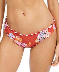 SUNDAZED Mermaid Floral Printed Ruffled Bikini Bottoms, Created for Macy's