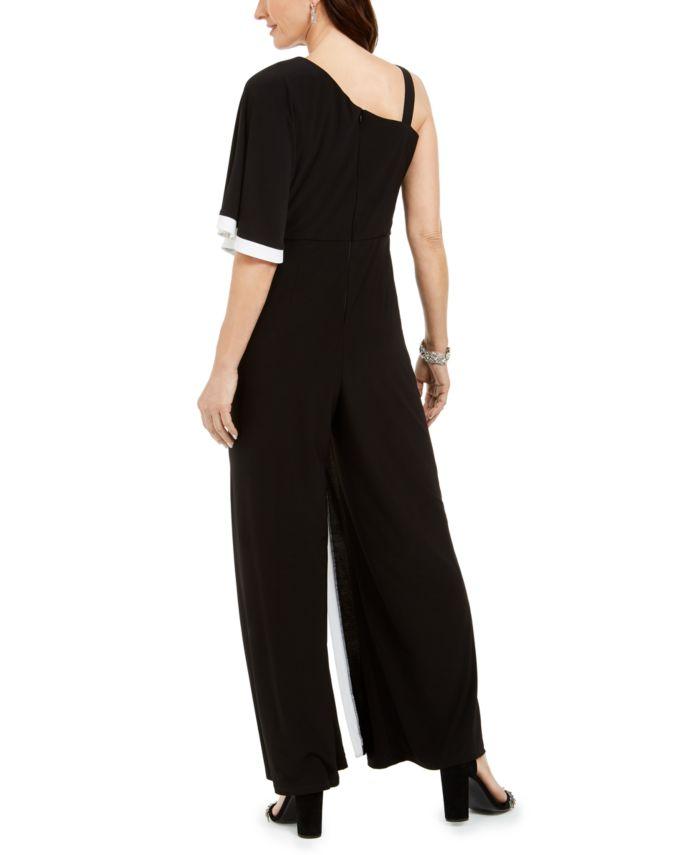 R & M Richards One-Shoulder Jumpsuit & Reviews - Jumpsuits & Rompers - Women - Macy's