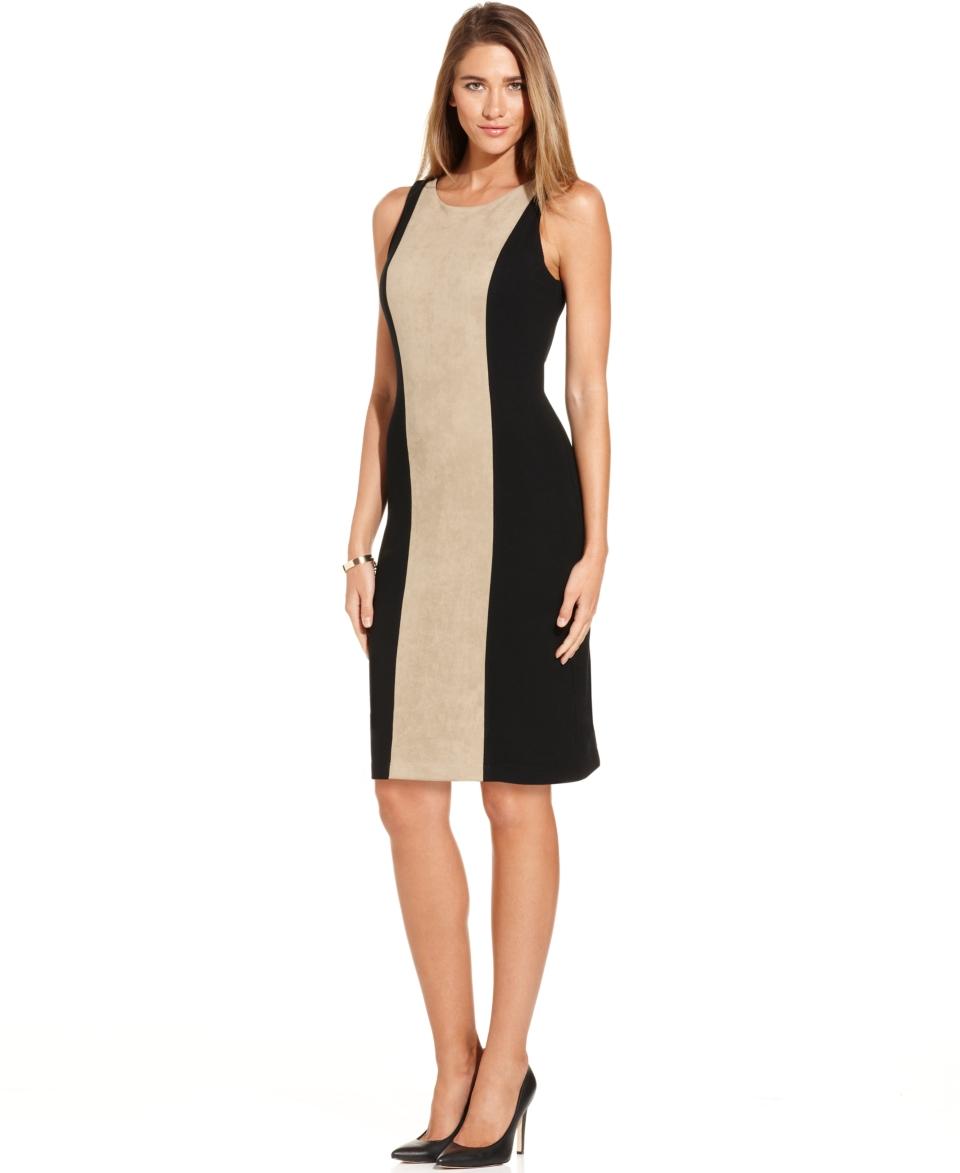 Karen Kane Sleeveless Colorblock Sheath Dress   Dresses   Women
