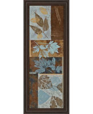 Blue Fusion Panel Il by Jeni Lee Framed Print Wall Art - 18
