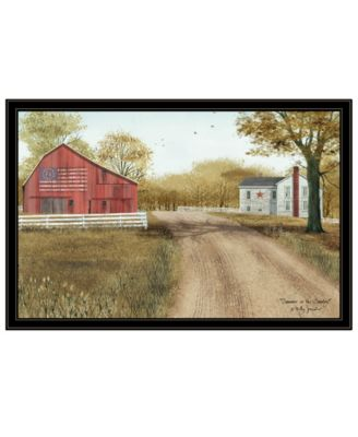 Summer in the Country by Billy Jacobs, Ready to hang Framed Print, White Frame, 19