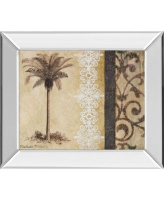 Decorative Palm II by Michael Marcon Mirror Framed Print Wall Art, 22