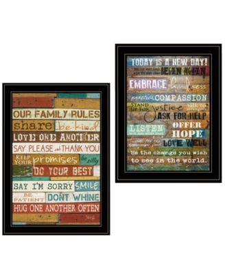 Today Is 2-Piece Vignette by Marla Rae, Black Frame, 15
