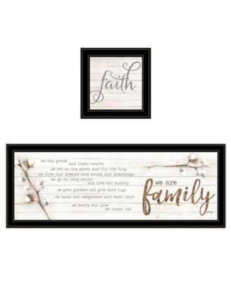 We are Family 2-Piece Vignette by Marla Rae, Black Frame, 39