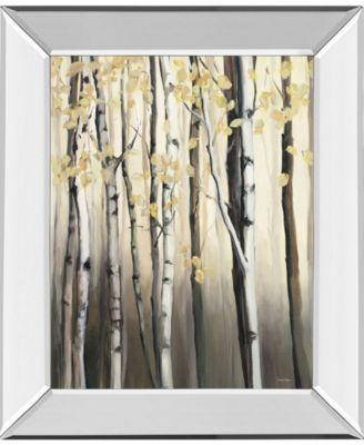 Golden Birch Il by Julia Purinton Mirror Framed Print Wall Art - 22