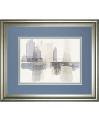 Improvisation Il Gray Crop by Mike Schick Framed Print Wall Art - 34