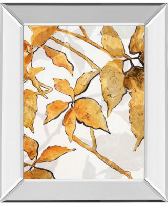 Gold Shadows II by Patricia Pinto Mirror Framed Print Wall Art, 22