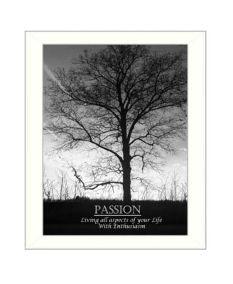 Passion By Trendy Decor4U, Printed Wall Art, Ready to hang, Black Frame, 14