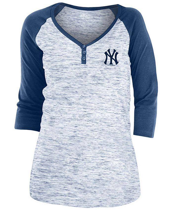 5th & Ocean - New York Yankees Women's Space Dye Raglan Shirt