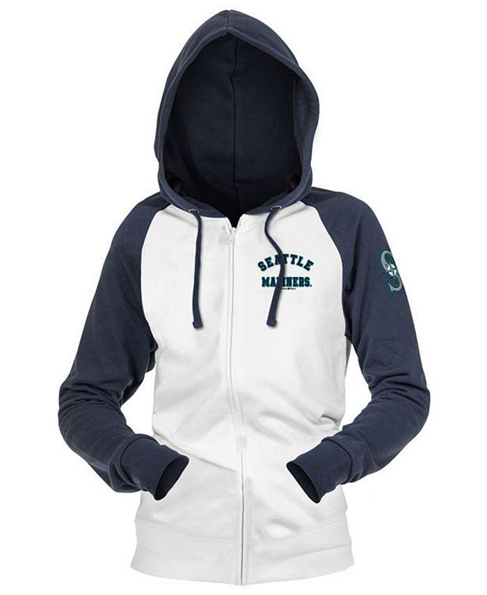 5th & Ocean - Seattle Mariners Women's Zip-Up Contrast Hoodie