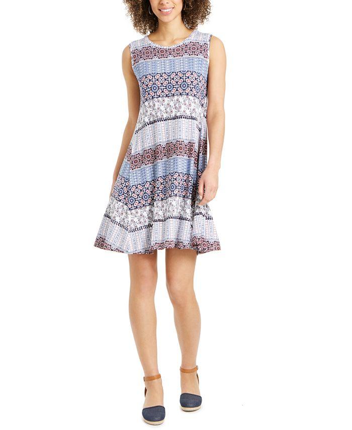 Style & Co - Plus Size Sleeveless Printed Swing Dress