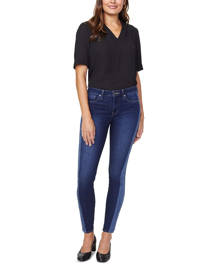 NYDJ - Ami Side-Striped Skinny Tummy-Control Jeans