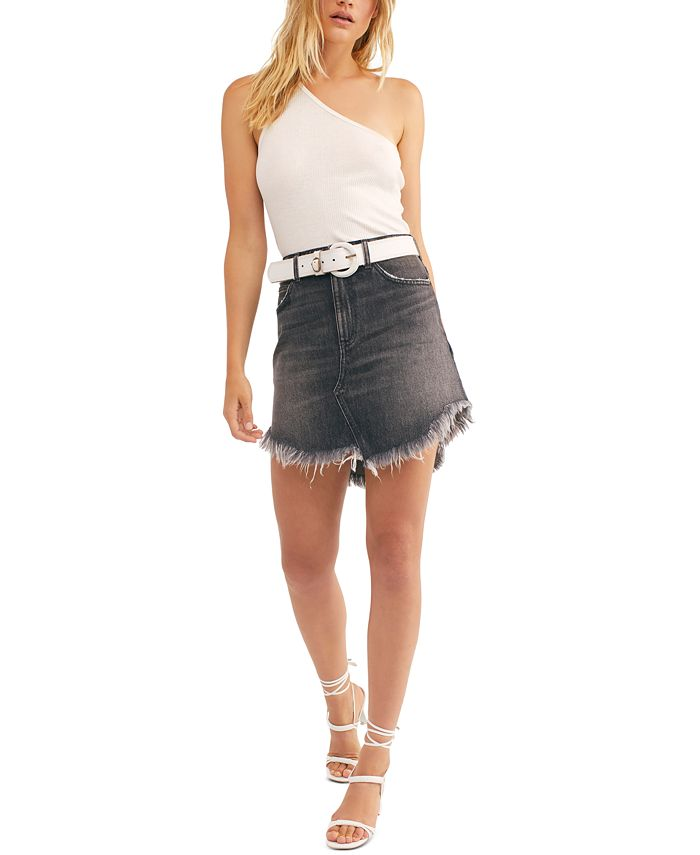 Free People - Bailey Cotton Denim Mini Skirt