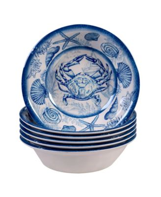 Oceanic Melamine 6-Pc. All Purpose Bowls