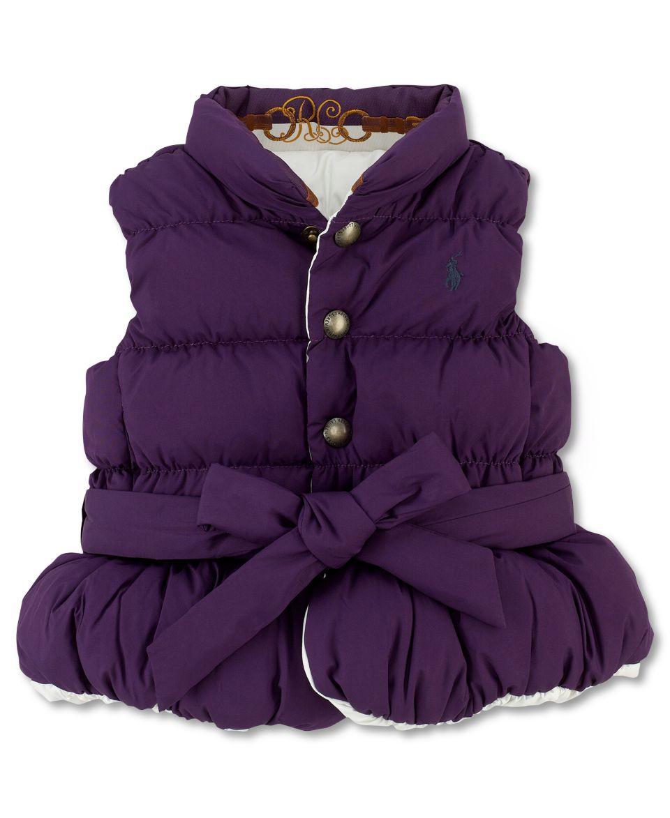 Ralph Lauren Baby Vest, Baby Girls Down Vest   Kids